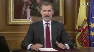 """El Rey, sobre Cataluña: """"Es responsabilidad de los legítimos poderes del Estado asegurar el orden constitucional"""""""