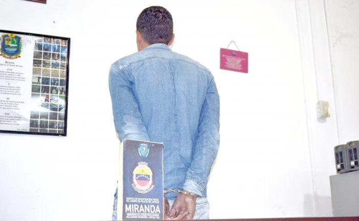 Capturan a uno de los maleantes más buscados de Miranda