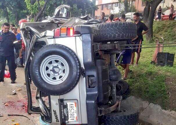 Choque en la Valle Coche dejó varios fallecidos