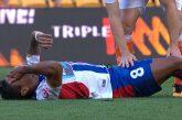 Ronald Vargas se fractura la tibia y el peroné en Australia