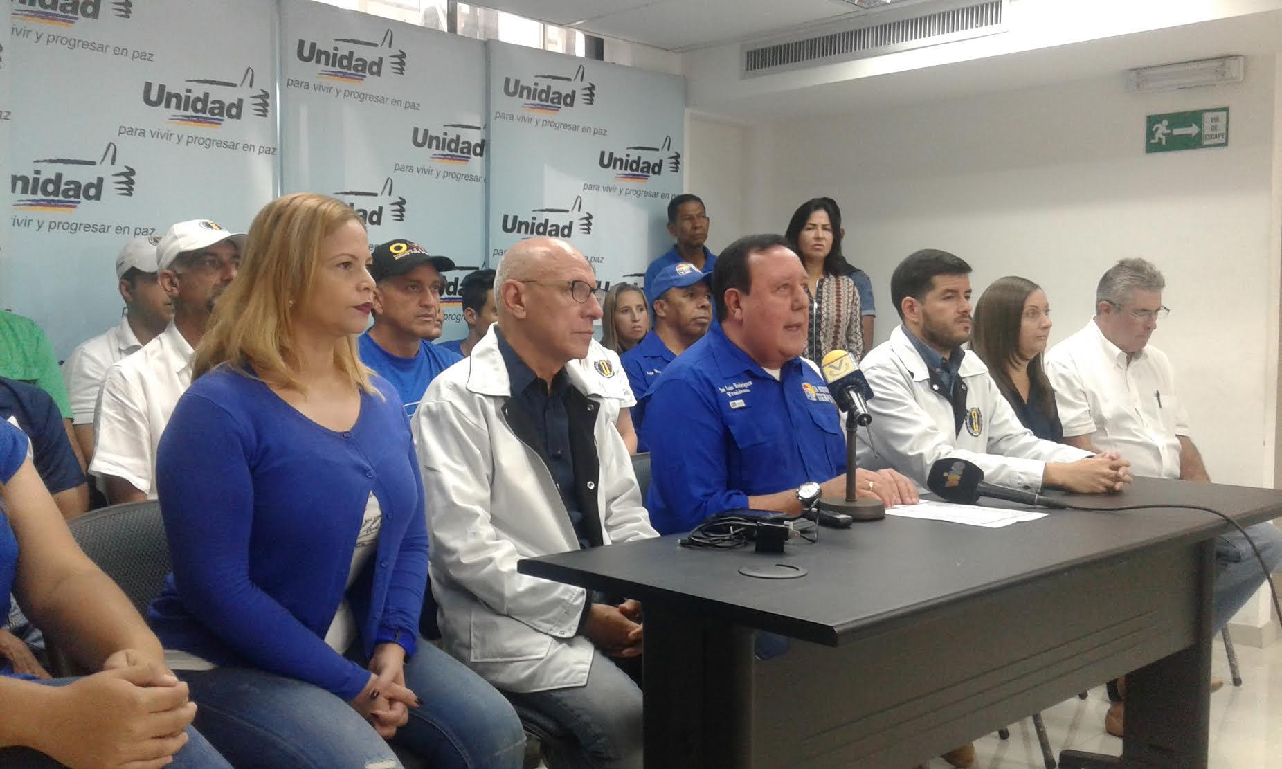 UNT pide votar en Miranda por Carlos Ocariz en la tarjeta de AD