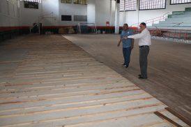 En 60% avanzan los trabajos de la cancha cubierta Eduardo Pardo