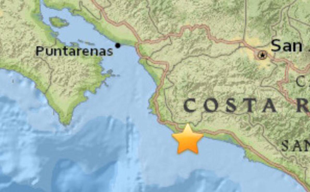 Sismo de magnitud 6,5 sacude Costa Rica