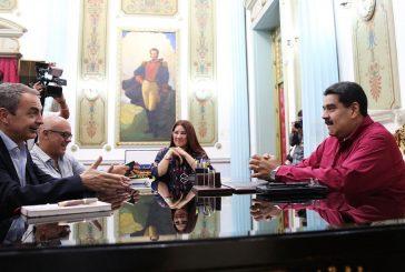 Nicolás Maduro recibió a José Luis Zapatero en Caracas