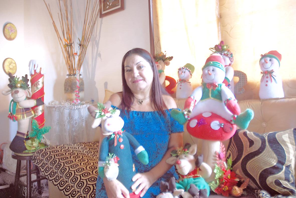 Carmen Brito, una apasionada por la decoración navideña