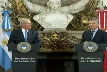 Macri y Kuczynski exigen respeto a los DDHH en Venezuela