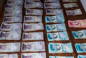 Incautaron 8 millones de bolívares en efectivo en el estado Bolívar