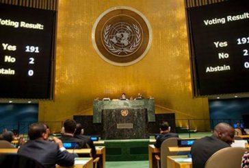 ONU: 191 países votaron a favor de Cuba y contra el bloqueo, solo Israel respaldó a EEUU