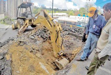 Alcaldía e Hidrocapital trabajan en la  Perimetral de San Antonio