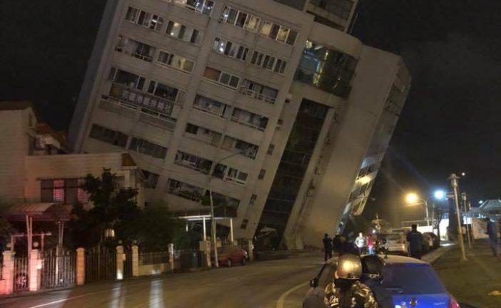 Un terremoto de magnitud 6,4 golpea Taiwán y derrumba varios edificios