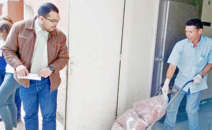 Alcaldía dotó de producto cárnico al HVS