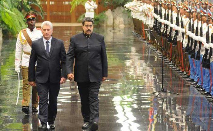 Díaz-Canel junto a Maduro inicia sus actividades al frente de Cuba