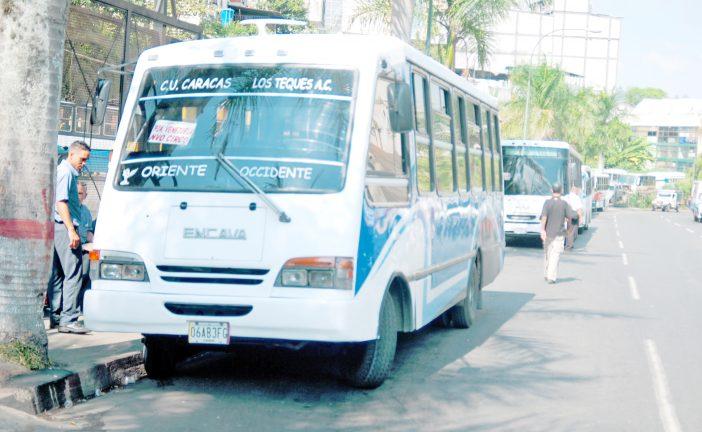 Pasaje para Caracas se mantendrá  a Bs. 12 mil, por ahora