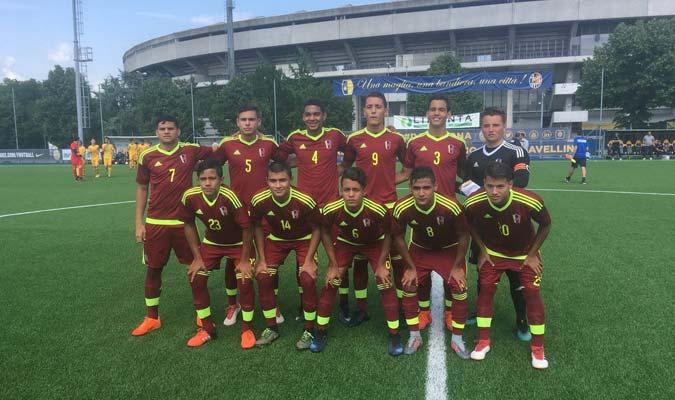 Vinotinto Sub-17 ganó su primer partido en gira por Italia