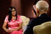 Delcy Rodríguez: Gobierno de Venezuela está dispuesto al diálogo con Estados Unidos