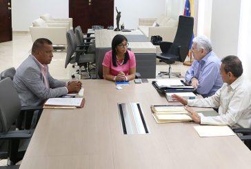 Vicepresidenta Rodríguez se reunió con gobernadores de Mérida, Anzoátegui y Nueva Esparta