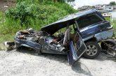 Un muerto y cuatro heridos deja aparatoso accidente en el kilómetro 18