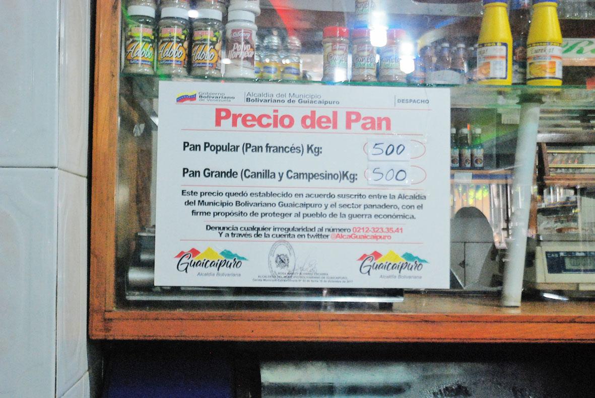 Alcaldía reajusta el kilo de pan a Bs. 500 mil