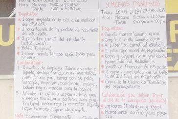 Exhortan a no cobrar inscripciones en colegios de Guaicaipuro
