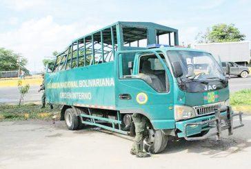 Choque de convoy de la GNB deja dos muertos