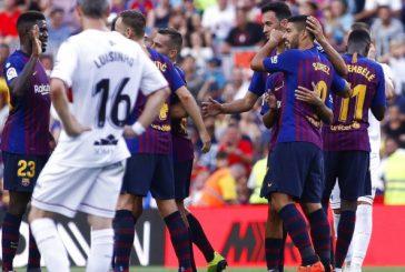 El Barca aplasta al CD Huesca en Camp Nou (8-2)