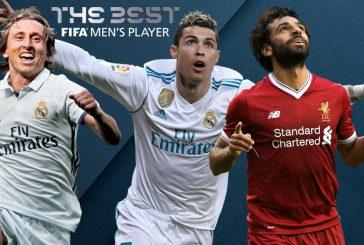 Cristiano, Modric y Salah, finalistas al The Best a mejor jugador
