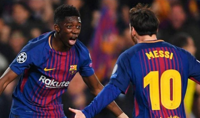 Messi y Dembélé se impusieron ante el PSV