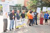 Trabajadores del HVS protestan por eliminación de contrato colectivo