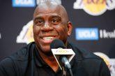 """Magic alienta a LeBron a llevar a los Lakers """"a la tierra prometida"""""""
