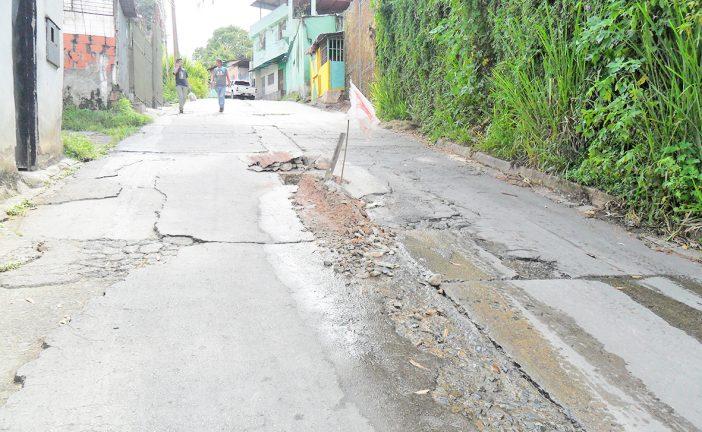Trabajos chucutos de Hidrocapital  generan descontento en El Vigía